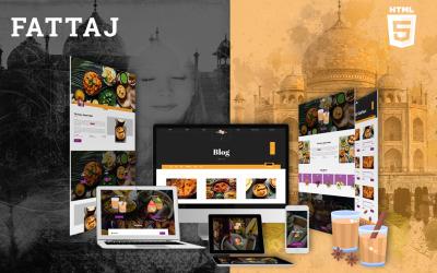 Fattaj | Indien restaurang & Dhaba HTML5 webbplats mall