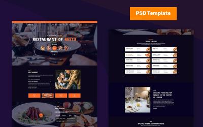 Restu - Ресторан PSD PSD шаблон