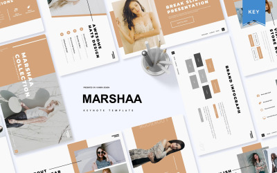 Marshaa - šablona Keynote