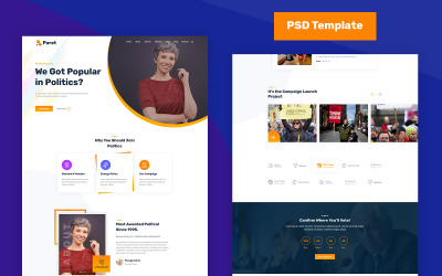 Paret - polityczny szablon PSD