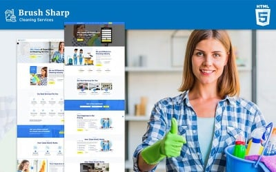 Brush Sharp   Multipurpose Responsive Cleaning Services Website Template