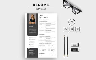 Remarkable Jeams Resume Template