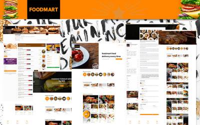 餐馆列表和外送食品HTML5   FoodMart网站模板