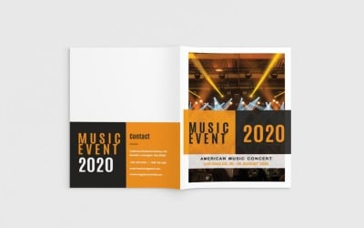 Musika - A4 Music Brochure - Corporate Identity Template