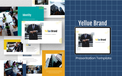 Yellue Brand-主题演讲模板
