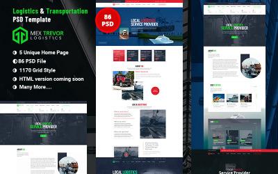 墨西哥TREVOR物流与运输PSD模板