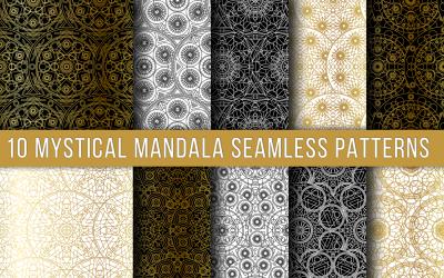 Mystical Mandala Seamless Set Pattern