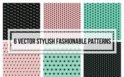 Patrón de conjunto sin costuras de moda con estilo