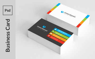 Mix Colorfull Art Business Card - Corporate Identity Template
