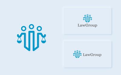 LawGroup - Modèle de logo d'avocat propre et moderne