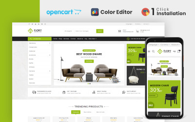 Flory Furniture Store OpenCart-sjabloon