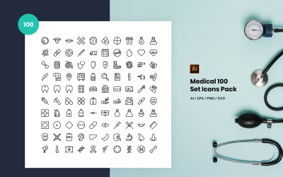 Medical 100 Set Pack Icon