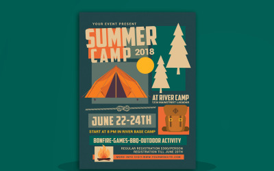 Summer Camp Flyer - Corporate Identity Template