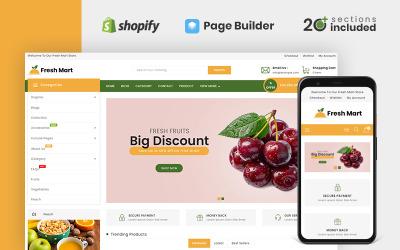 FreshMart有机和杂货店Shopify主题