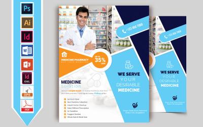 Folleto de farmacia y tienda de medicamentos Vol-02 - Plantilla de identidad corporativa