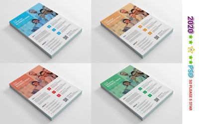 Blue Color Flyer - Corporate Identity Template