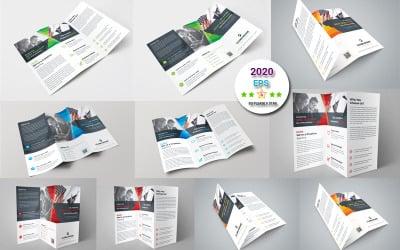 Green Color Tri-Fold Brochure - Corporate Identity Template