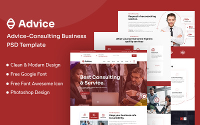 Консультации и бизнес PSD шаблон