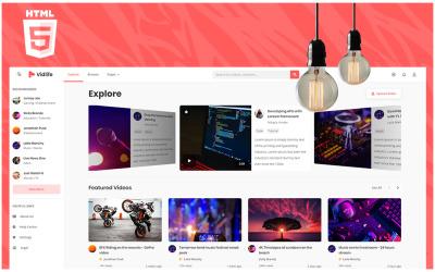 Vidlife - Video Sharing HTML Website Template