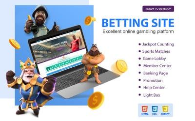 Trendy Gambling and Betting Website Template