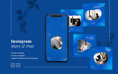 Modern Business Instagram Post & Story Template for Social Media