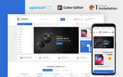 Cormite Electronics Store OpenCart Template
