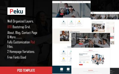 Peku - Multipurpose Corporate PSD Template