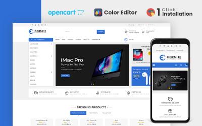 Šablona OpenCart obchodu s elektronikou Cormite