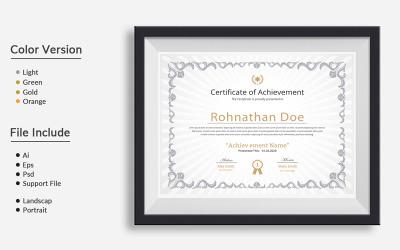 Clean 03 Certificate Template