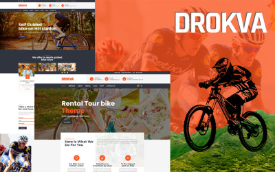 Drokva - Fietsverhuur en winkel WordPress-thema