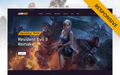 Gamehoak - Online Game Store PrestaShop-Thema