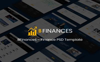 BFinances– Modello PSD per finanza premium multiuso