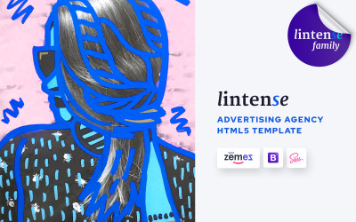 Lintense Advertising Agency - Creatieve HTML-bestemmingspagina-sjabloon