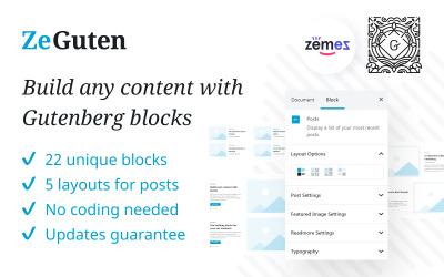 Плагін ZeGuten Gutenberg для створення конкурентного веб-сайту