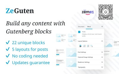 ZeGuten Gutenberg Plugin to Build a Competitive Website