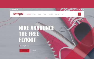 Tema WordPress del negozio di articoli sportivi Snykers