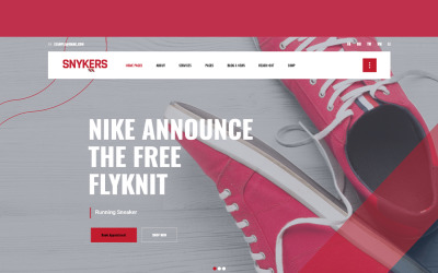WordPress тема для Snykers Sports Shop
