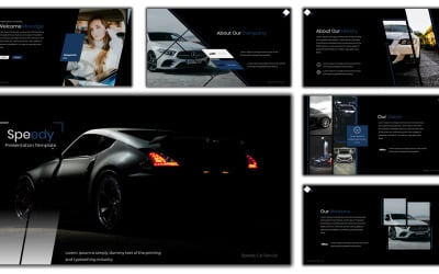 Speedy Car Services PowerPoint template