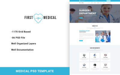 FirstMedical - Medicinsk PSD-mall