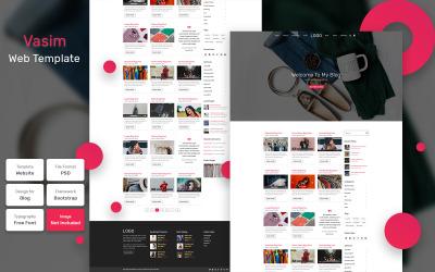 Vasim - Szablon PSD materiałów blogowych