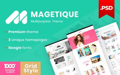 Magetique - w pełni responsywny uniwersalny szablon PSD