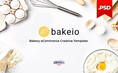 Bakeio-面包店电子商务创意PSD模板