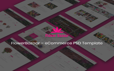FlowerBazaar – eCommerce PSD Template