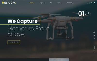 Helicom - motyw WordPress dla drona i helikoptera