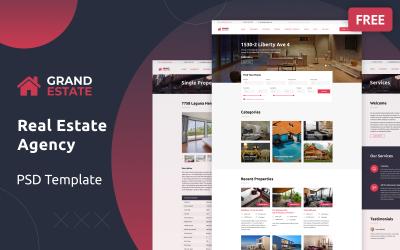 Grand Estate Ücretsiz PSD Şablonu