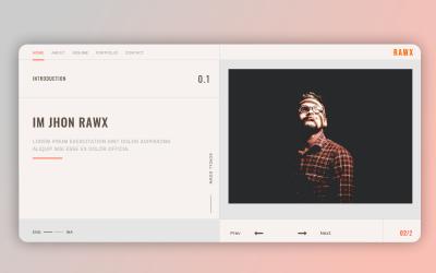 Rawx - Html Personal Portfolio Landing Page Template