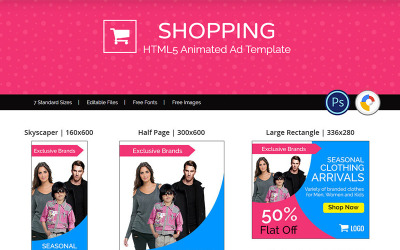 Shopping - Designs Animated Banner