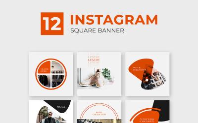 Оранжевый, шаблон сообщения Instagram для социальных сетей