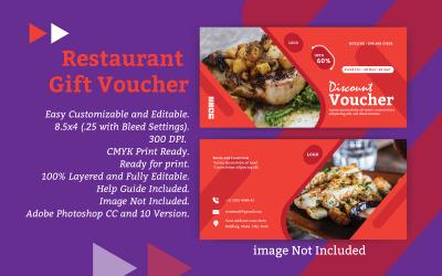 Restaurant Gift Voucher - Vector Image