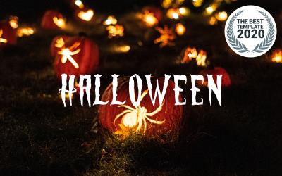 Horror de Halloween | Vintage | Plantilla de Drupal receptiva